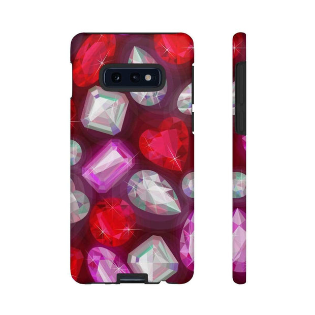Ruby Red Gems Galaxy 10 Series Tough Case