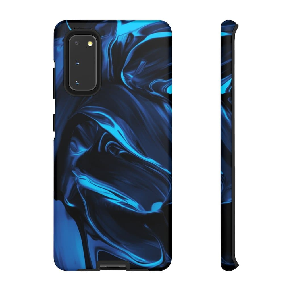 Satin Blue Abstract S20 Series - Purdycase