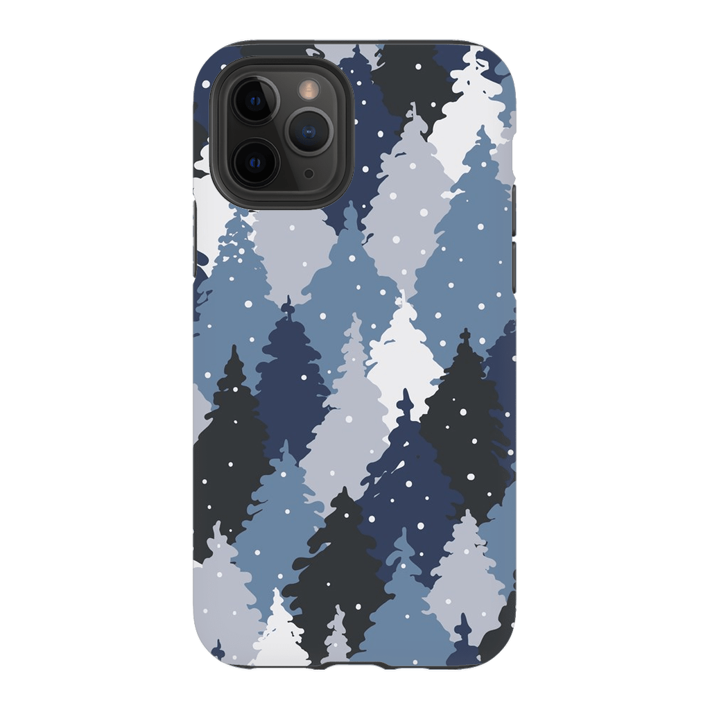 Forest Camo Blue iPhone 11 Series Tough Case - Purdycase
