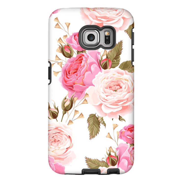Pink Rose Galaxy S6 Edge and S6 Edge Plus Tough Case - Purdycase
