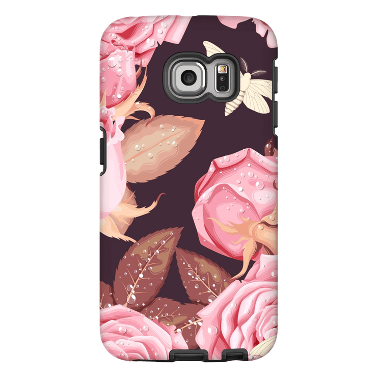 Butterfly Pink Rose Galaxy S6 Edge and S6 Edge Plus Tough Case - Purdycase