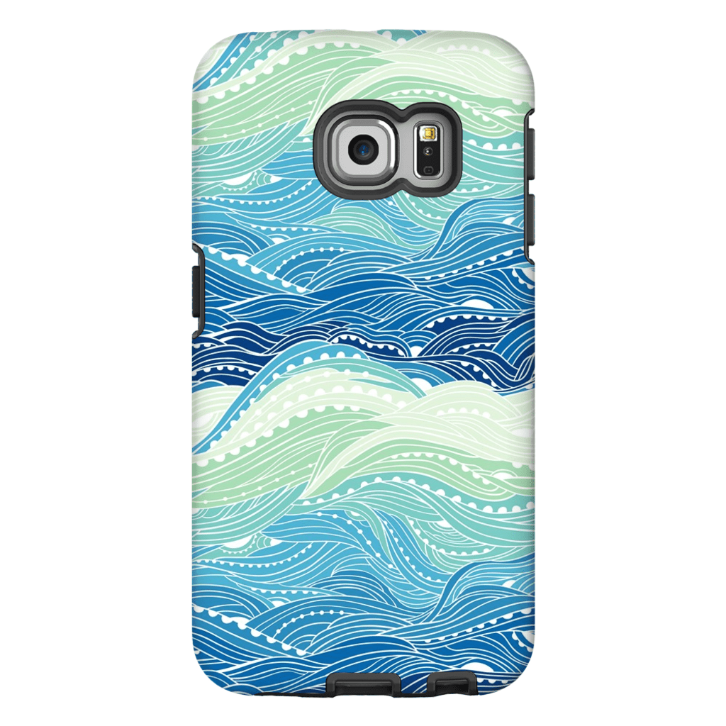 Blue Waves Galaxy S6 Edge and S6 Edge Plus Tough Case - Purdycase