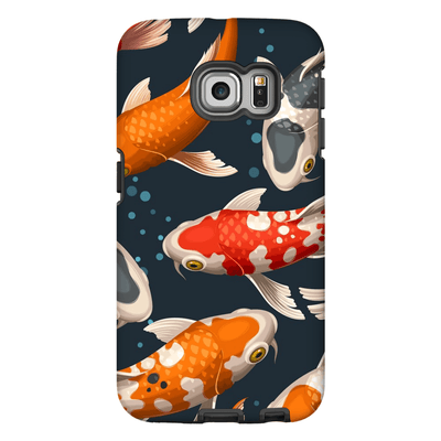 Japanese Koi Bubbles Galaxy S6 Edge and S6 Edge Plus Tough Case