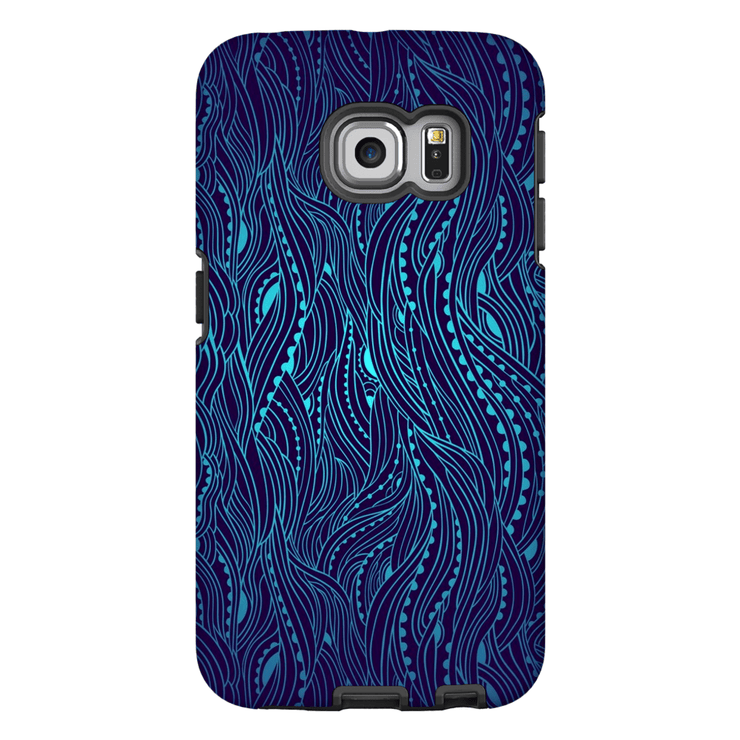 Dark Blue Wave Galaxy S6 Edge and S6 Edge Plus Tough Case - Purdycase