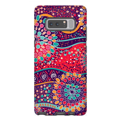 Red Mandala Galaxy Note 8 and 9 Tough Case - Purdycase