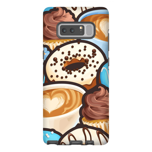 Coffee and Donuts Galaxy Note 8 and 9 Tough Case