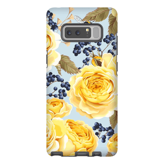 Vintage Yellow Rose Galaxy Note 8 and 9 Tough Case