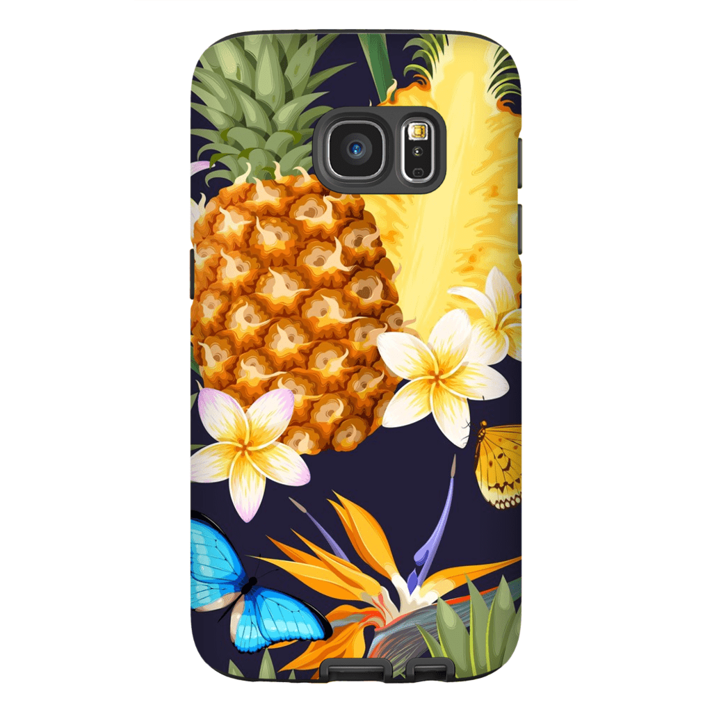 Tropical Pineapple Galaxy S7 and S7 Edge Tough Case - Purdycase