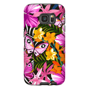 Tropical Butterflies Galaxy S7 and S7 Edge Tough Case