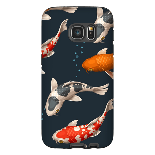 Japanese Koi Bubbles Galaxy S7 and S7 Edge Tough Case