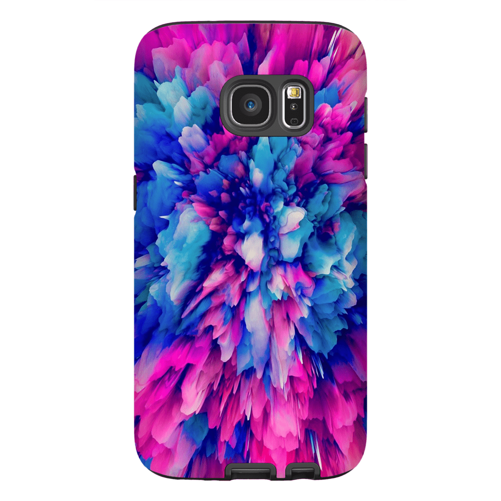 Pink Blue Abstract Galaxy S7 and S7 Edge Tough Case - Purdycase