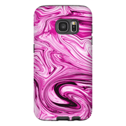 Pink Marble Galaxy S7 and S7 Edge Tough Case