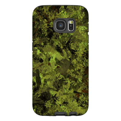 Green Forest Camo Galaxy S7 and S7 Edge Tough Case - Purdycase