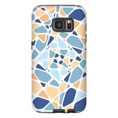 Blue Mosaic Galaxy S7 and S7 Edge Tough Case - Purdycase