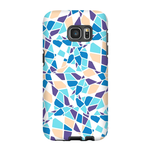 Turquoise Mosaic Galaxy S7 and S7 Edge Tough Case