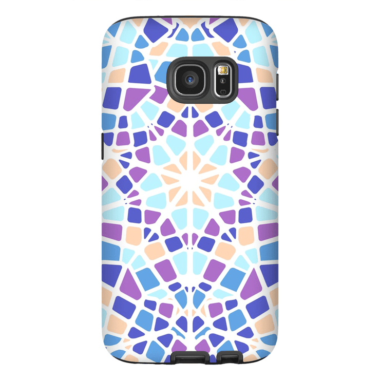 Purple Star Mosaic Galaxy S7 and S7 Edge Tough Case - Purdycase