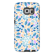 Purple Blue Mosaic Galaxy S6 and S6 Edge Tough Case - Purdycase