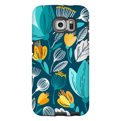 Spring Blue Leaves Galaxy S6 Edge and S6 Edge Plus Tough Case - Purdycase