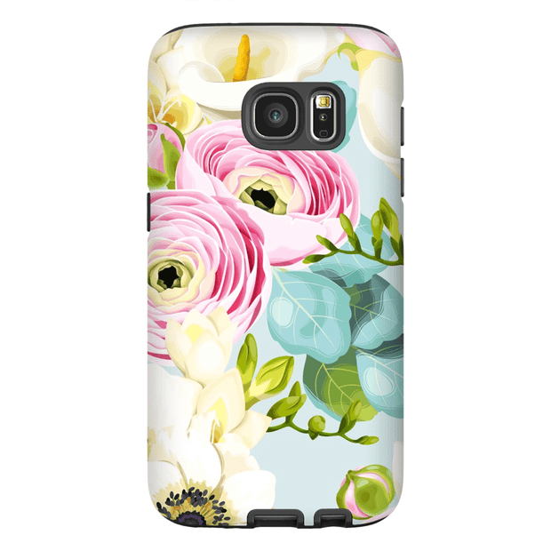 Pinky Blue Rose Galaxy S6 Edge and S6 Edge Plus Tough Case
