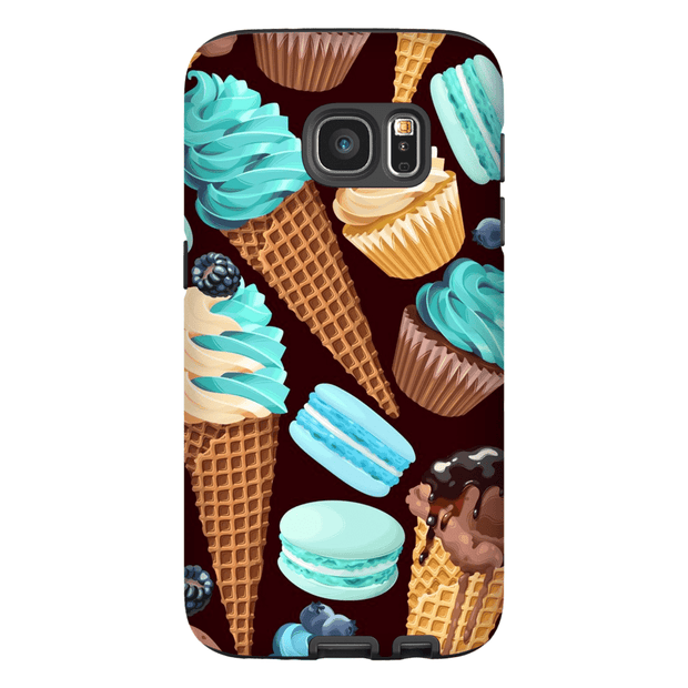 Turquoise Sweets Galaxy S7 Edge and S7 Edge Plus Tough Case