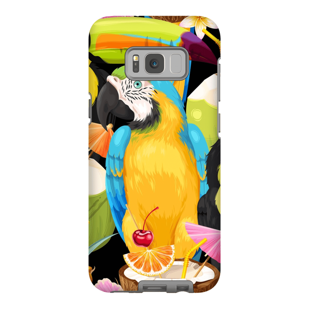 Tropical Macaw Galaxy Galaxy S8 and S8 Plus Tough Case - Purdycase
