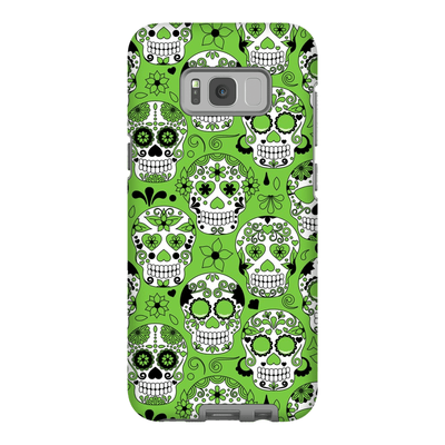 Lime Skulls Galaxy S8 and S8 Plus Tough Case - Purdycase