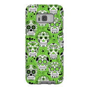 Lime Skulls Galaxy S8 and S8 Plus Tough Case