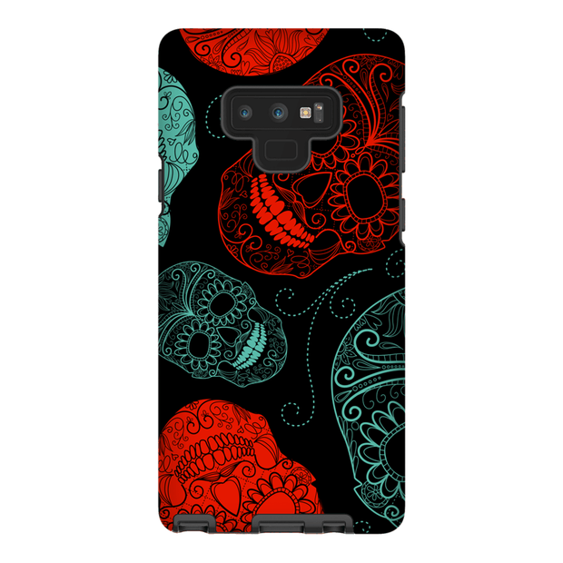 Red Hot Sugar Skulls Galaxy Note 8 and 9 Tough Case
