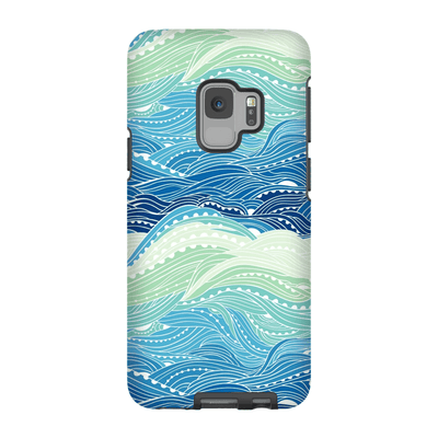 Blue Waves Galaxy S9 and S9 Plus Tough Case - Purdycase
