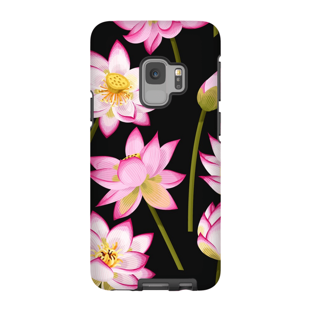 Tropical Pink Flower Galaxy S9 and S9 Plus Tough Case - Purdycase
