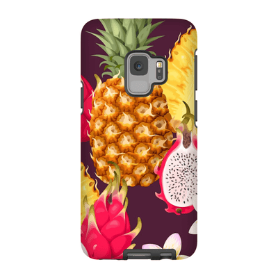 Pineapple and Dragon Fruit Galaxy S9 and S9 Plus Tough Case - Purdycase