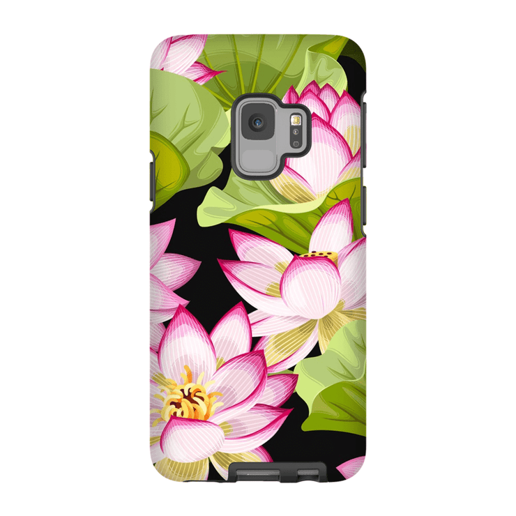Tropical Pink Floral Galaxy S9 and S9 Plus Tough Case - Purdycase