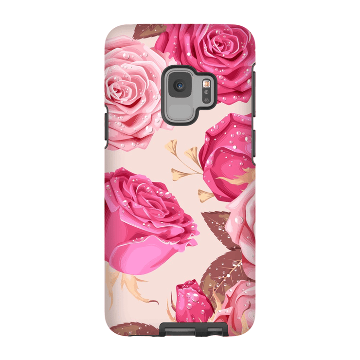 Pink Rose Galaxy S9 and S9 Plus Tough Case - Purdycase