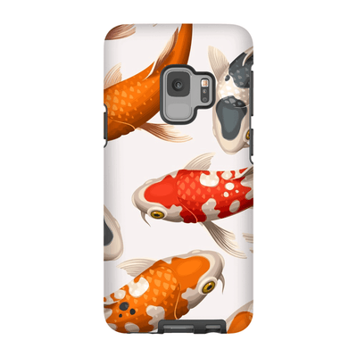 Japanese White Koi Galaxy S9 and S9 Plus Tough Case