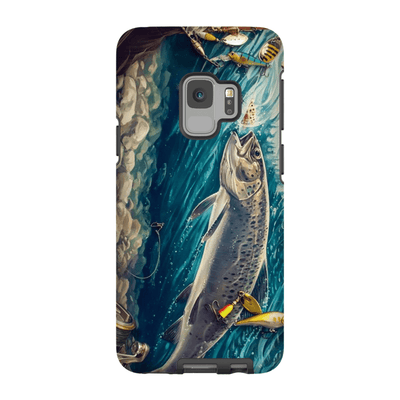 Trout Fish Galaxy S9 and S9 Plus Tough Case
