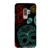 Turquoise Skull Galaxy S9 and S9 Plus Tough Case