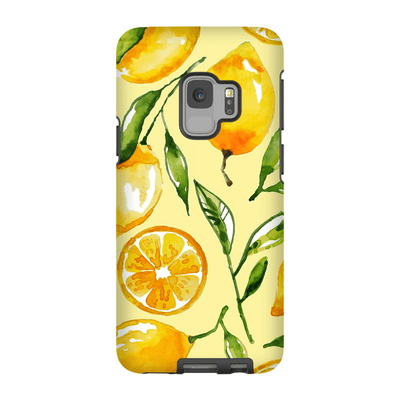 Yellow Lemon Galaxy S9 and S9 Plus Tough Case
