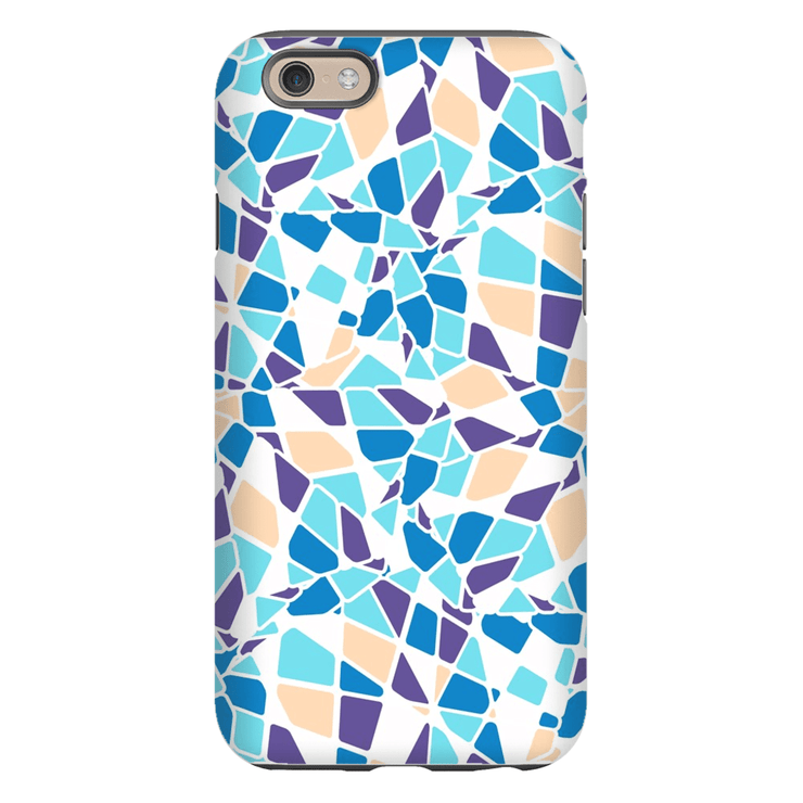 Turquoise Mosaic iPhone 6/6s and 6 Plus Tough Case - Purdycase