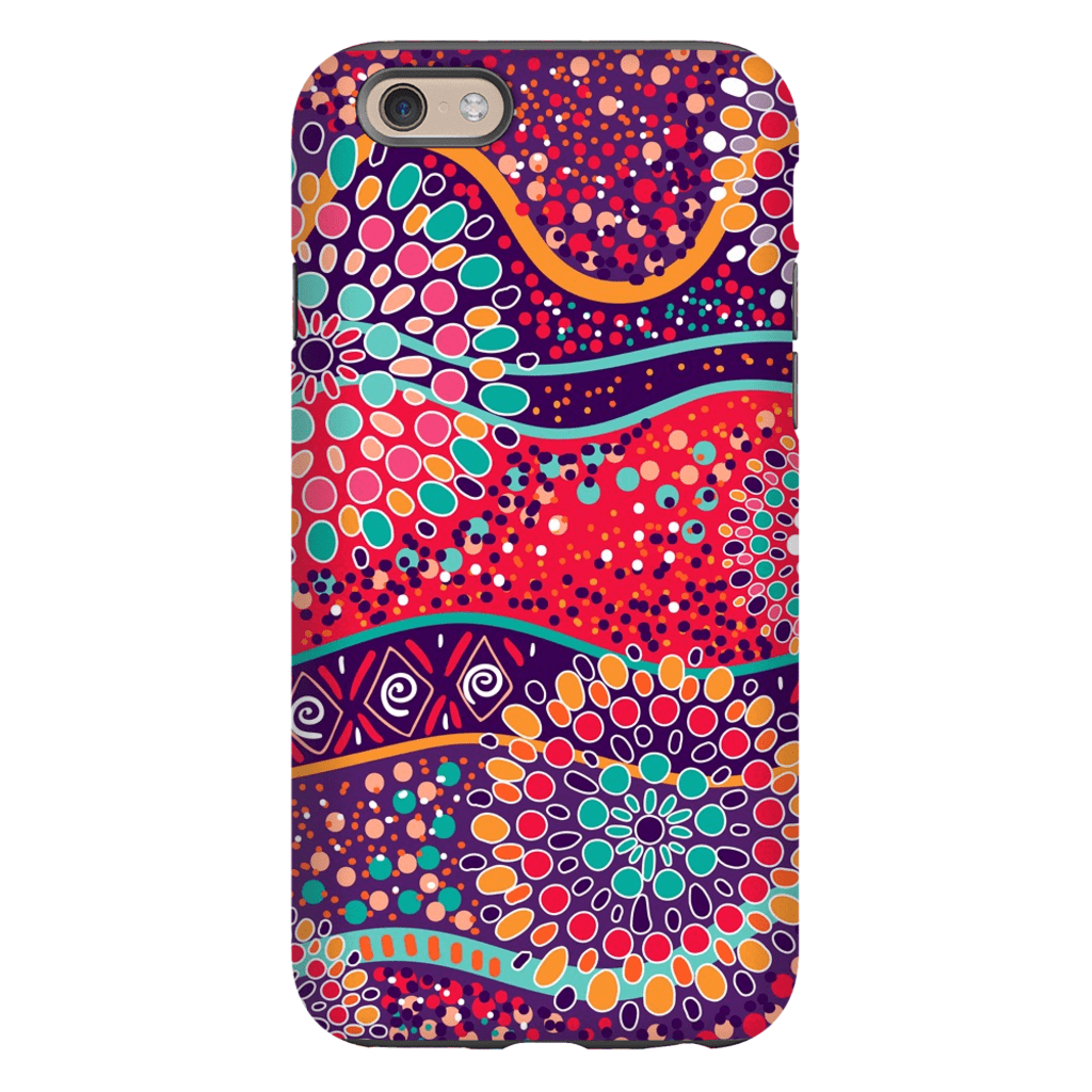 Red Mandala iPhone 6/6s and 6 Plus Tough Case - Purdycase