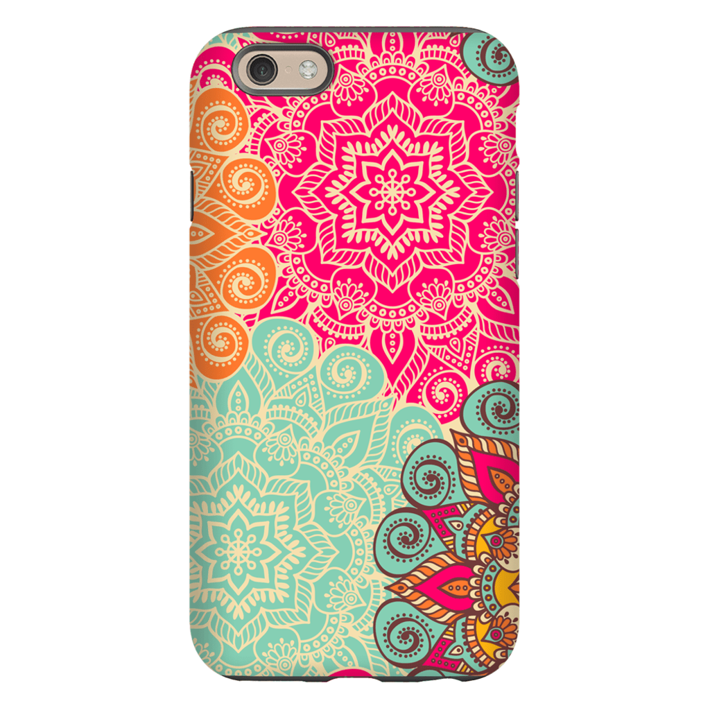 Multi-Color Mandala iPhone 6/6s and 6 Plus Tough Case - Purdycase