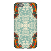 Orange Mandala iPhone 6/6s and 6 Plus Tough Case - Purdycase