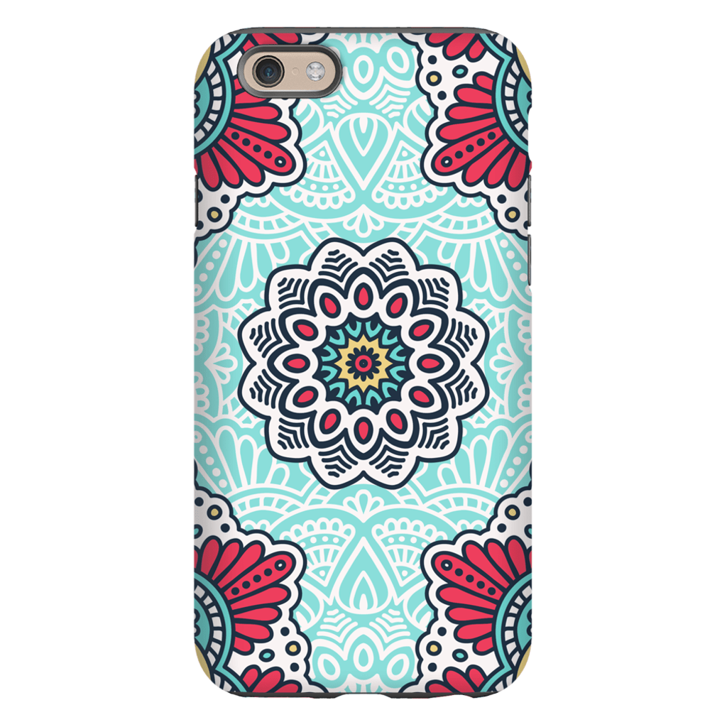 Turquoise Star Mandala iPhone 6/6s and 6 Plus Tough Case - Purdycase