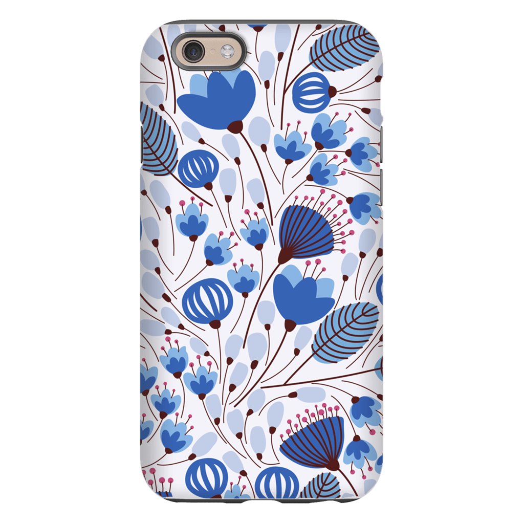 Blue Spring Leaves iPhone 6/6s and 6 Plus Tough Case - Purdycase