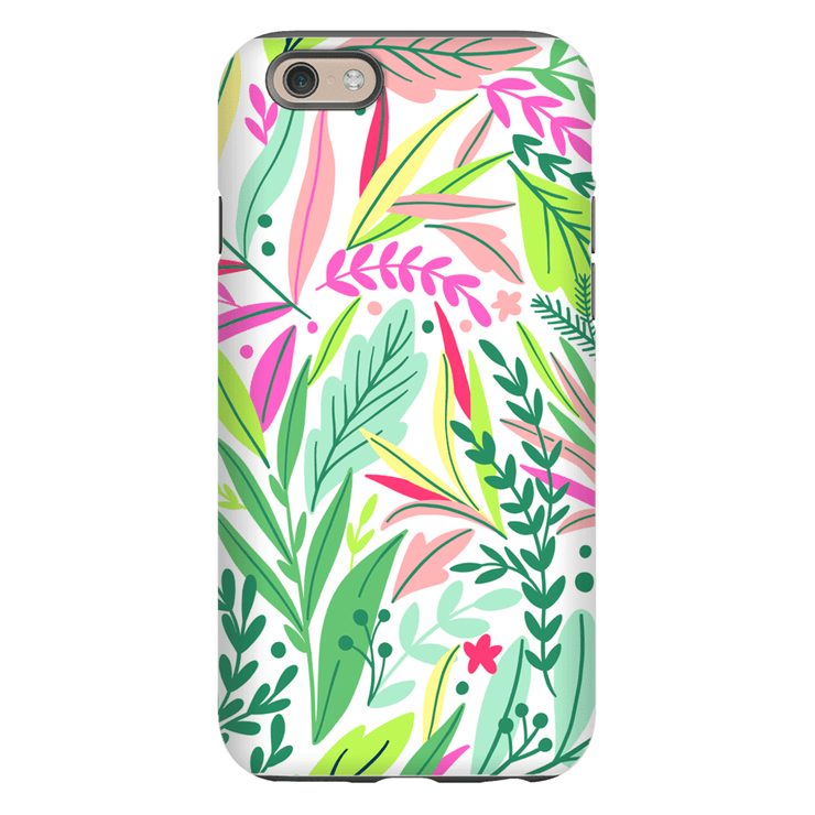 Pastel Spring Leaves iPhone 6/6s and 6 Plus Tough Case - Purdycase