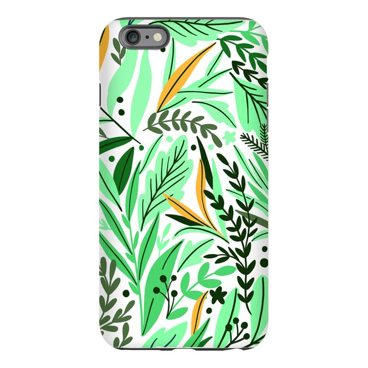 Green Spring Leaves iPhone 6/6s and 6 Plus Tough Case - Purdycase