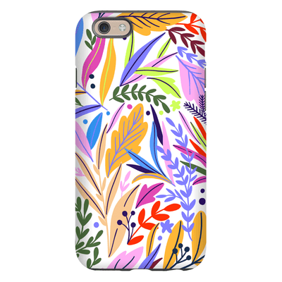Pink Spring Leaves iPhone 6/6s and 6 Plus Tough Case - Purdycase