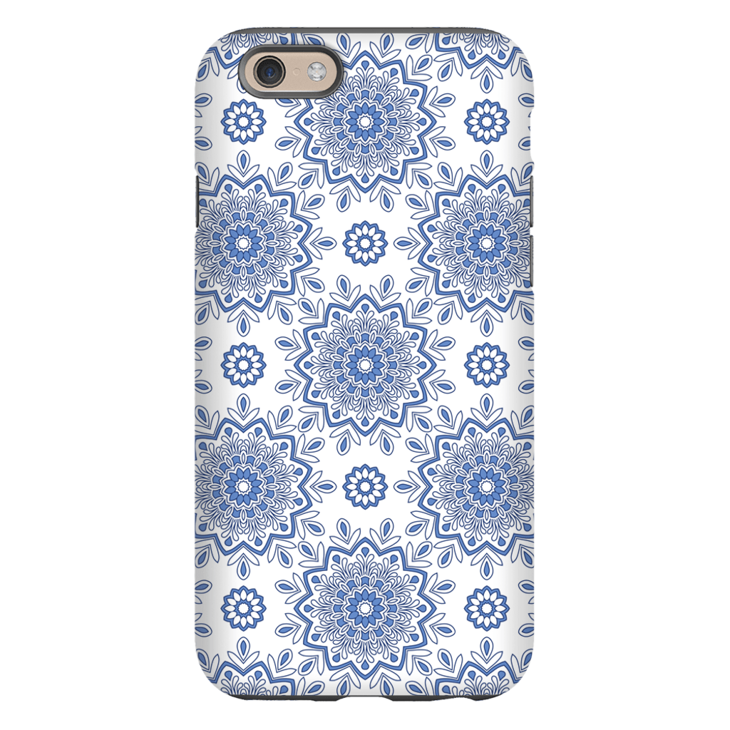 Baby Blue Mandala iPhone 6/6s and 6 Plus Tough Case - Purdycase