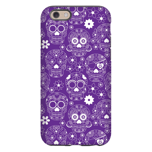 Purple Sugar Skulls iPhone 6/6s and 6 Plus Tough Case