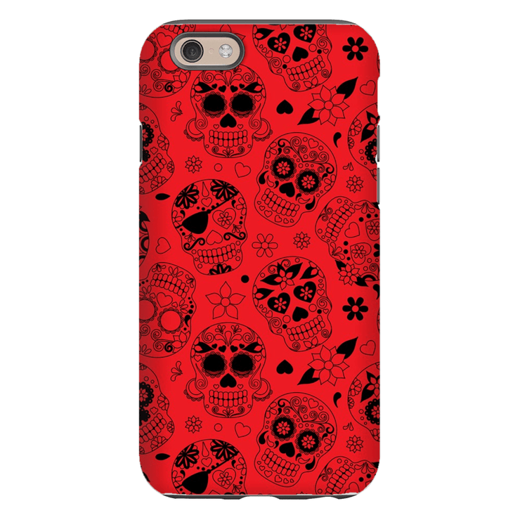 Red Sugar Skulls iPhone 6/6s and 6 Plus Tough Case - Purdycase