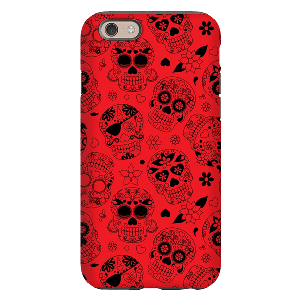 Red Sugar Skulls iPhone 6/6s and 6 Plus Tough Case